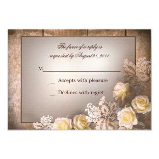 vintage victorian roses wedding rsvp 9 cm x 13 cm invitation card