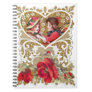 Vintage Victorian Valentine Notebooks