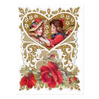 Vintage Victorian Valentine Postcard