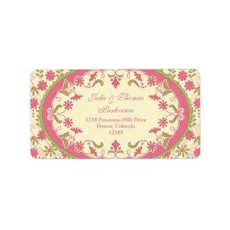 Vintage Victorian Wedding Return Address Labels