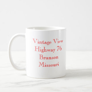 Vintage View Branson Missouri Coffee Mug