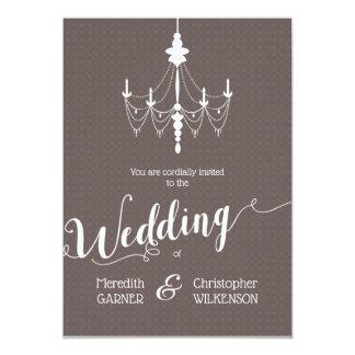 Vintage Vintage Chandelier Wedding Invitation