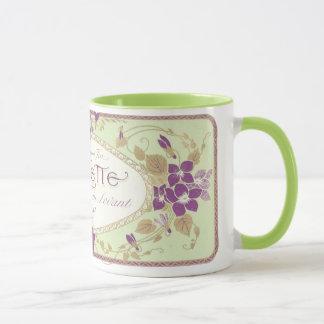 """Vintage """"Violette Mug"""" Perfume Label Mug"""