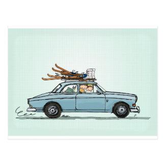 Vintage Volvo 122s Amazon Postcard