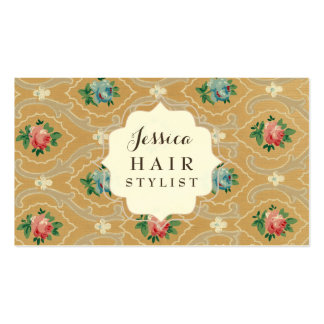 Vintage Wallpaper Hair Stylist Appointment Cards Pack Of Standard Business Cards