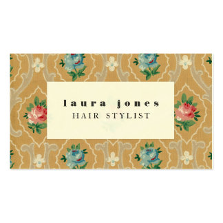 Vintage Wallpaper Pattern Hair Stylist Template Business Card Templates