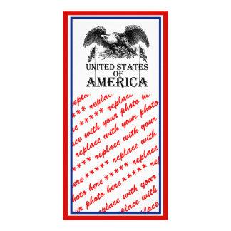 Vintage War Eagle Customized Photo Card
