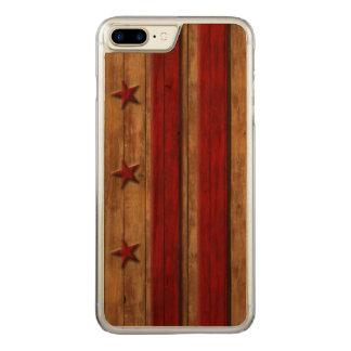 Vintage Washington D.C. Flag Distressed Carved iPhone 8 Plus/7 Plus Case