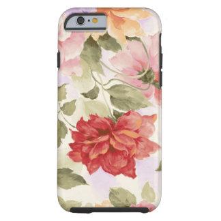 Vintage Watercolor Roses Tough iPhone 6 Case