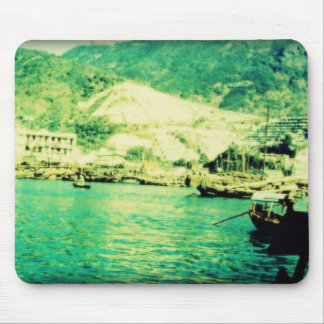 Vintage Waterfront Mouse Pad