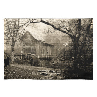 Vintage Waterwheel Cloth Place Mat