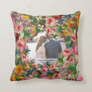 Vintage Wedding Anniversary - ADD PHOTO - ROSES Cushion