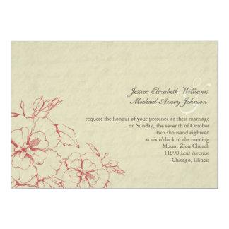 Vintage Wedding | Floral 13 Cm X 18 Cm Invitation Card