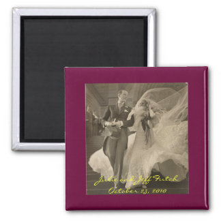 vintage-wedding-photo magnet