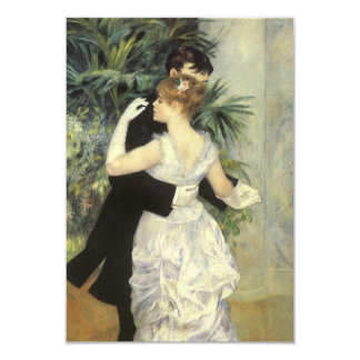 Vintage Wedding Response Card, City Dance, Renoir 9 Cm X 13 Cm Invitation Card