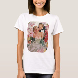 Vintage Wedding, Retro Bride and Groom Newlyweds T-Shirt