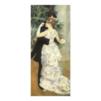 Vintage Wedding Save the Date, City Dance, Renoir 10 Cm X 24 Cm Invitation Card
