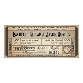 Vintage Wedding Ticket Invitation IV -- 40s era