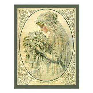 Vintage Wedding Victorian Bride Bridal Portrait Personalized Invite