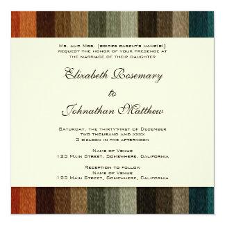 Vintage Wedding, Warm Autumn Stripes Pattern Card