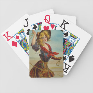 Vintage Western Cowgirl Rodeo Ranch Hostess Gift Poker Deck