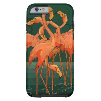 Vintage Wild Animals Birds, Pink Flamingos Tropics Tough iPhone 6 Case