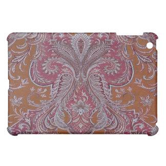 Vintage Wine Copper Damask Mini iPad Case