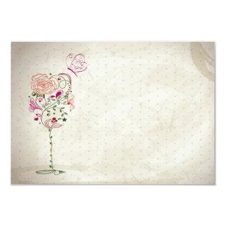 Vintage Wine Glass Bridal Shower Card