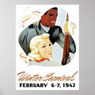 Vintage Winter Carnival Poster