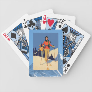 Vintage Winter Sports - On the piste Bicycle Playing Cards