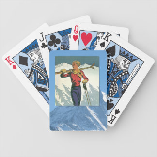 Vintage Winter Sports - Ready to ski Bicycle Playing Cards
