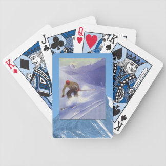 Vintage Winter Sports - Ski racer Bicycle Playing Cards