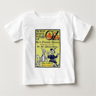 Vintage Wizard of Oz Book Cover Baby T-Shirt