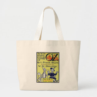 Vintage Wizard of Oz Book Cover Jumbo Tote Bag