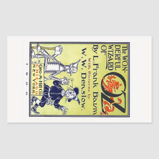 Vintage Wizard of Oz Book Cover Rectangular Sticker