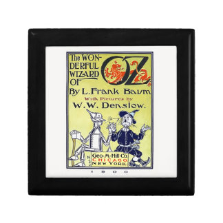 Vintage Wizard of Oz Book Cover Small Square Gift Box