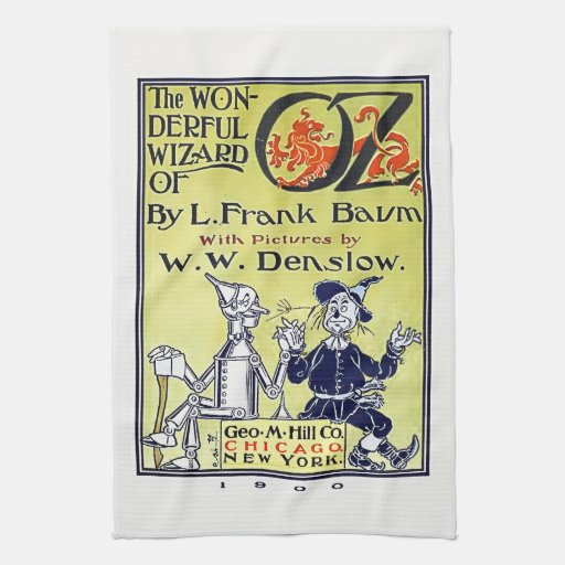 Vintage Wizard of Oz Book Cover Towels