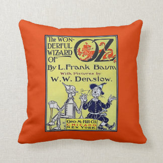 Vintage Wizard of Oz Book Cover Throw Cushions
