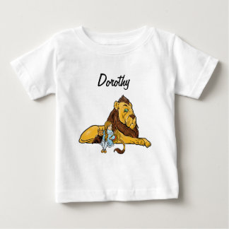 Vintage Wizard of Oz, Dorothy and Toto with Lion Baby T-Shirt