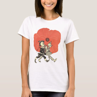 Vintage Wizard of Oz, Dorothy with Poppy Flowers T-Shirt