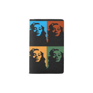 Vintage woman in four colors journal
