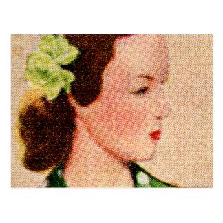 Vintage Women Woman 40s Catalog Art 'Alice' Postcard
