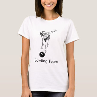 Vintage Womens Bowling T-Shirt