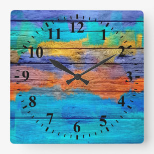 Watercolor Painting Wall Clocks Zazzle Co Nz