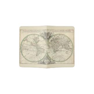 Vintage World Map 17th century Passport Passport Holder