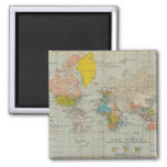 Vintage World Map 1910 Fridge Magnets
