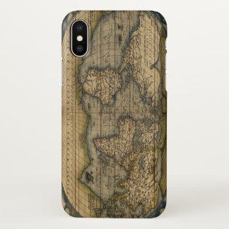 Vintage World Map Atlas Historical iPhone X Case