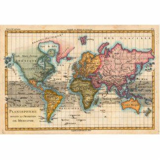 Vintage World Map Cut Out