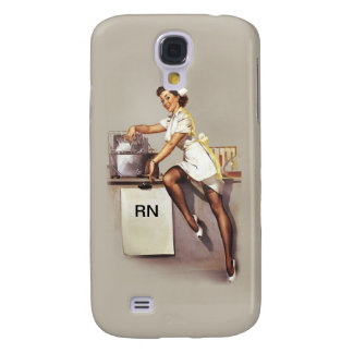 Vintage World War 2 PinUp Nurse Galaxy S4 Case
