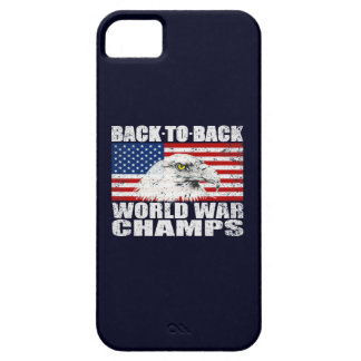 Vintage Worn World War Champs Eagle & US Flag iPhone 5 Case